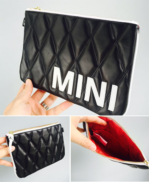 MINI Black Quilted Clutch