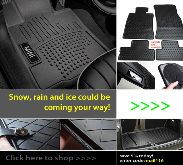 Rubber Floor Mats for all MINI Models