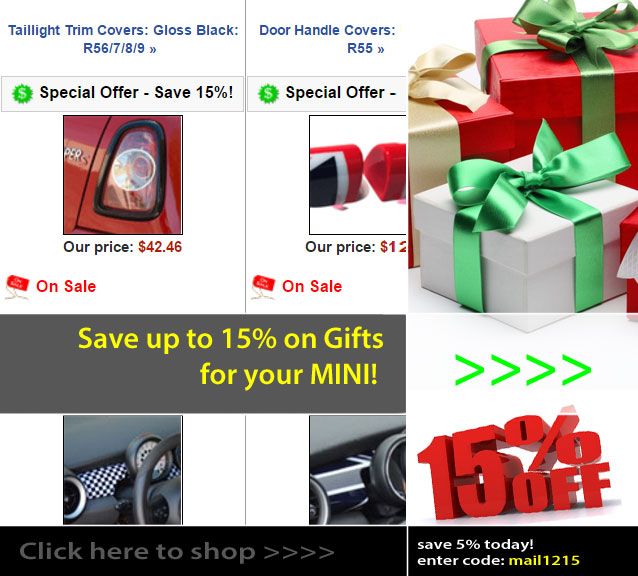 Christmas Shopping for your MINI at OutMotoring.com