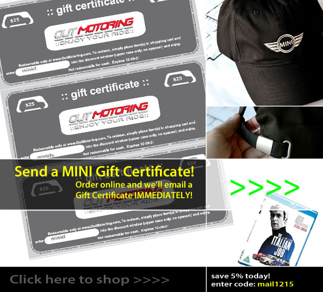 Gift Certificates for your MINI owner this Christmas