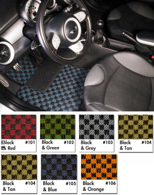 Sisal Checkered Floor Mats for MINI Cooper
