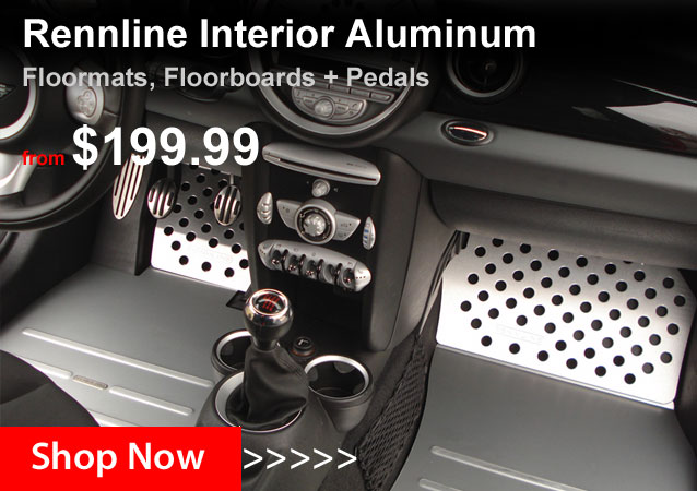 Rennline Aluminum Floor Mats, Pedal Covers + more!