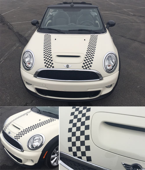 MINI Cooper Hood and Trunk Stripes