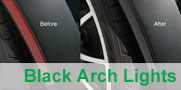 Black Wheel Arch Lights for the MINI Cooper