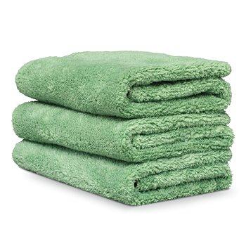 3 Griots Micro Fiber Spray On Car Wash Towels: Light Green