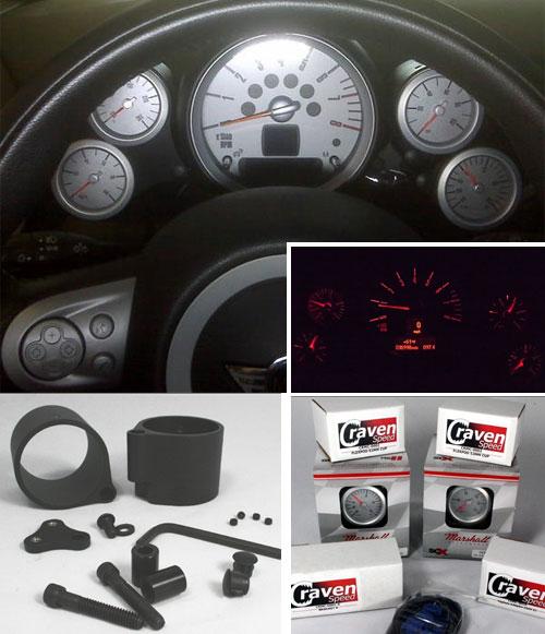 Four Door Convertible >> MINI Cooper clubman Paceman Countryman Coupe Speedster Gauge Kit quad Gauge Kit - MINI Cooper ...