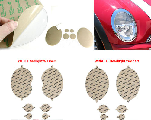 Headlight Protection Film: Clear: R50/2/3