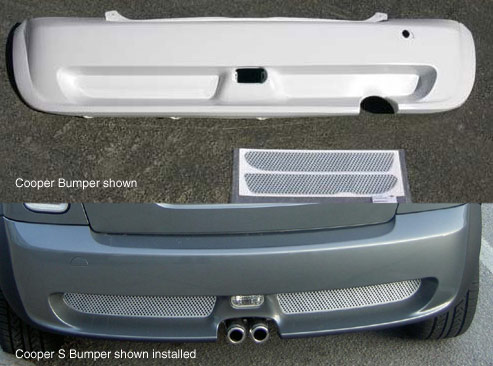 Aero Body Kit Rear Bumper Faux Grill Sticker Set
