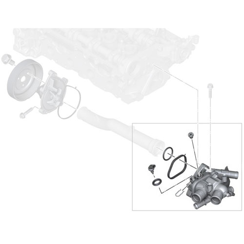 Engine Coolant Thermostat Housing w//Sensor Replacement for Cooper//Countryman /& Paceman 11538699290