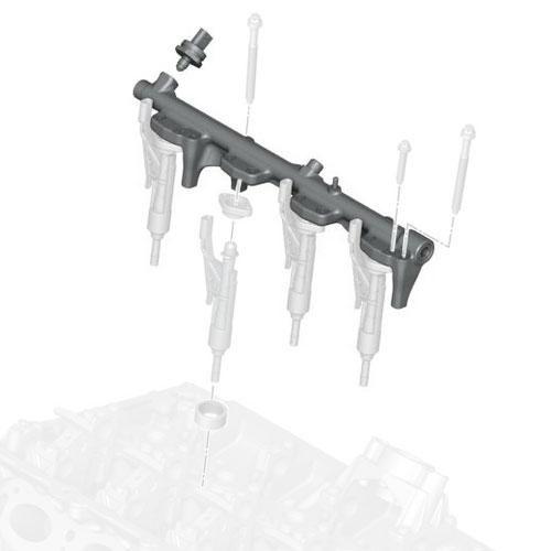 13537639979 MINI Cooper Replacement High Pressure Rail And