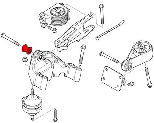 22116757369 Mini Cooper Replacement Engine Suspension Rubber
