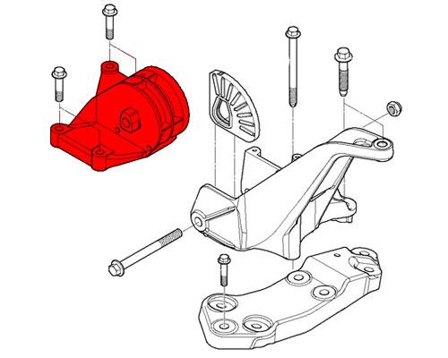 Support Bracket OEM mounting buffer Manual Transmission Mount 02 ...