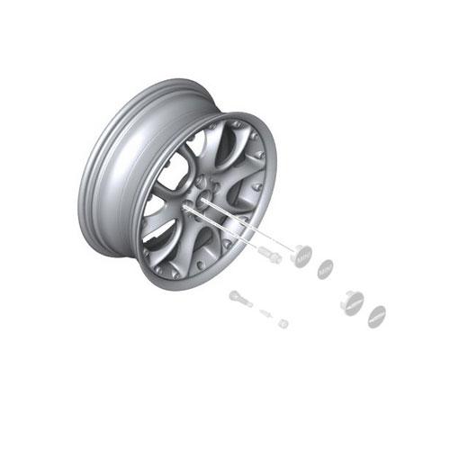 "BMW Mini Cooper 1 R50 R56 Black Wheel Alloy Rim 17/"" ET:48 7J Web Cross Spoke 98"