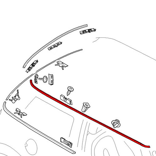 51137032354 mini cooper replacement parts roof molding
