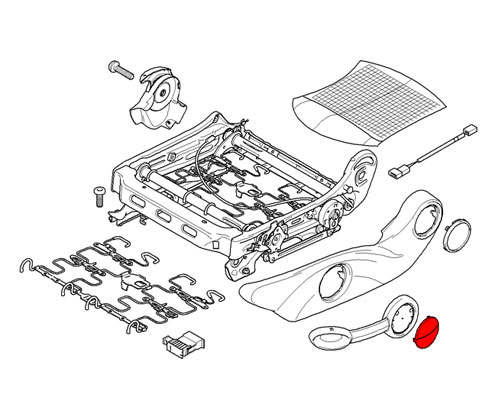 52102751367 Mini Cooper Replacement Seat Height Adjustment