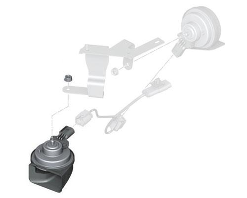61337401573 14-19 Mini Cooper High Low Horn Mounting Bracket F55 F56 F57