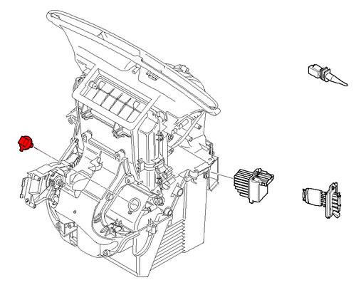 64111499144 Mini Cooper Replacement Heater Temperature Sensor
