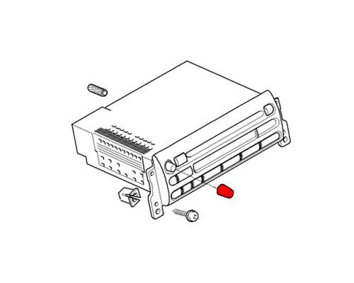 65129127000 mini cooper replacement radio button