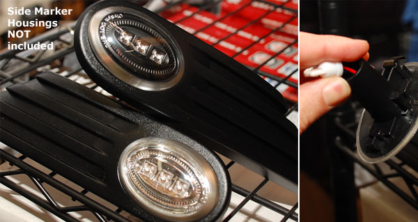 Mini Cooper Black Led Side Marker Light Gen 2 Scuttle Turn Signal Accessories Parts