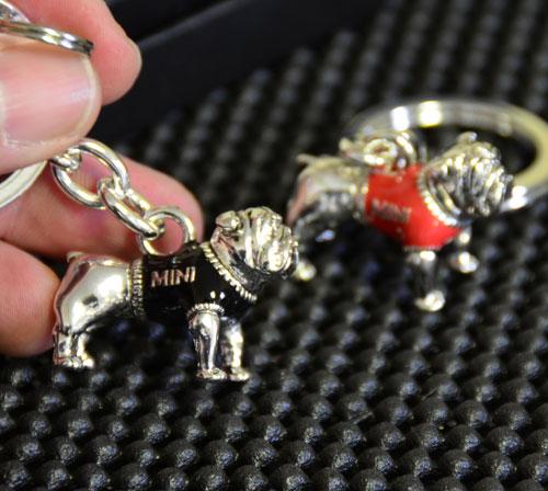 Bulldog Keychain w/ Ring
