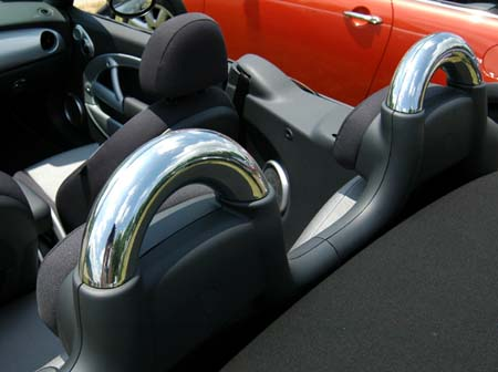 Mini Cooper Convertible Chrome Roll Bar Covers Mini