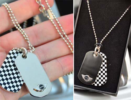 MINI Cooper Dog Tags Necklace