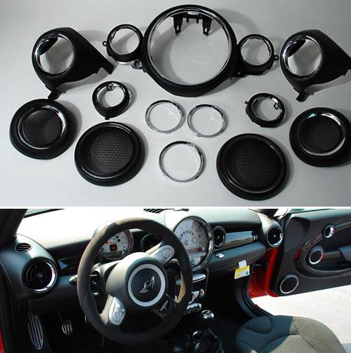 mini cooper interior retrofit chrome kit mini cooper accessories mini cooper parts