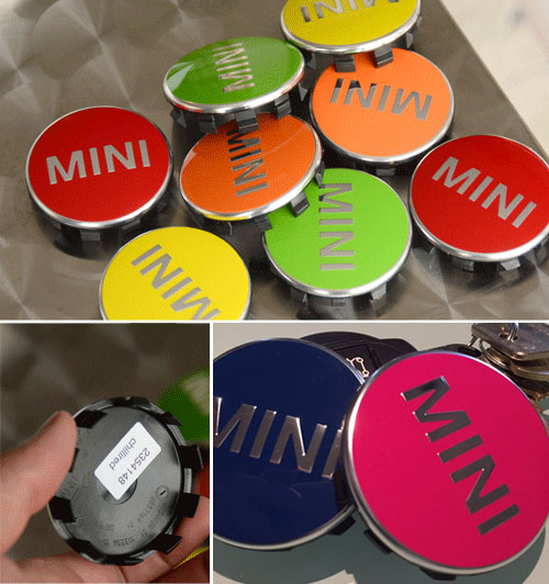 Wheel Center Caps: Red, Yellow, Orange Or Green: Gen3