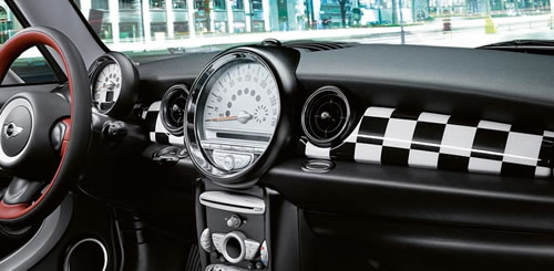 Mini Cooper Checkered Flag Dash Panels Mini Cooper