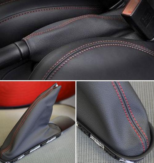 Ebrake Boot w/ Red Stitching: R55/6/7/8/9