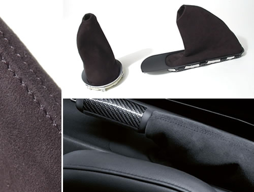 Shift and Ebrake Boots: Alcantara Suede: Gen2