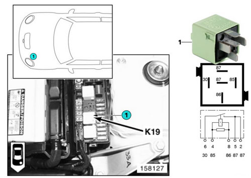 mini cooper relay  k19 ac compressor 61368373700
