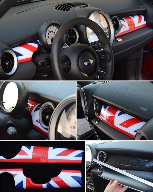 Dash Panel Covers Gen2 Union Jack R55 R56 R57 R58 R59 Mini Cooper Accessories Parts