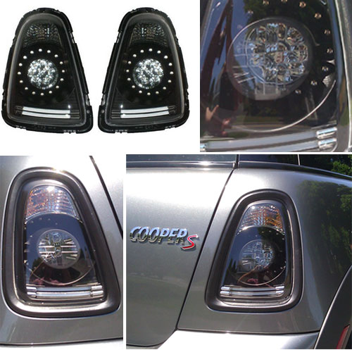 Black Led Tail Lights For Mini Cooper R56 R57 Accessories Parts
