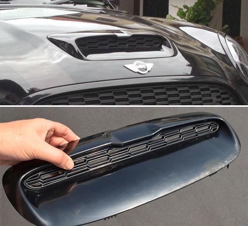 MINI Cooper Notch Style Hood Scoop: R55 R56 R57 R58 R59