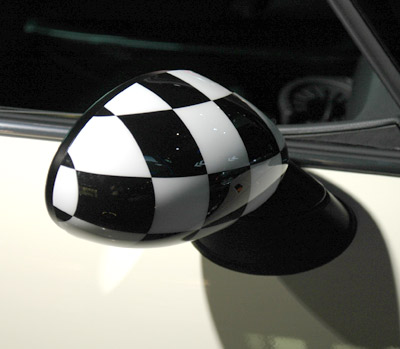 Checkered Flag Mini Cooper Mirror Caps Covers Mini