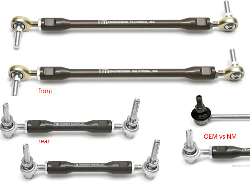 NM Engineering Adjustable Sway Bar End Links: Gen1+2