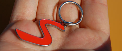OutMotoring S Logo Keychain