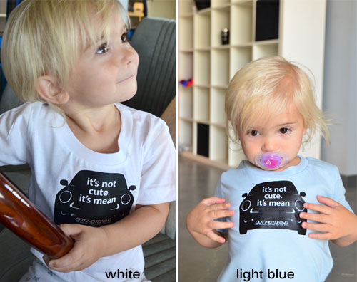 """""""not cute"""" T-Shirt: KIDS"""