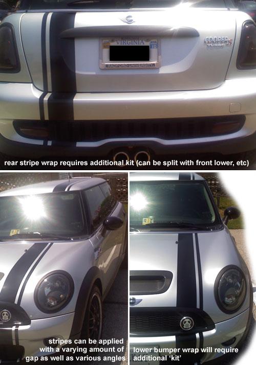 Car Detailing Kit >> MINI Cooper Racing Stripe Hood 121176 Offset Style - MINI Cooper Accessories + MINI Cooper Parts