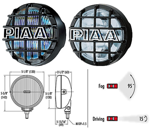 PIAA 540 Driving or Fog Light Kit