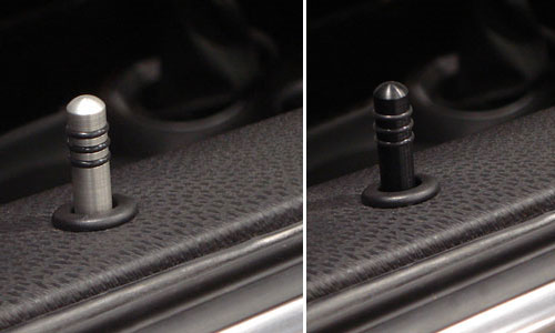 Machined Aluminum Door Lock Pins Mini Cooper Accessories