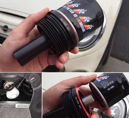 Mini Cooper Oil Filter Adapter Canister Type Conversion