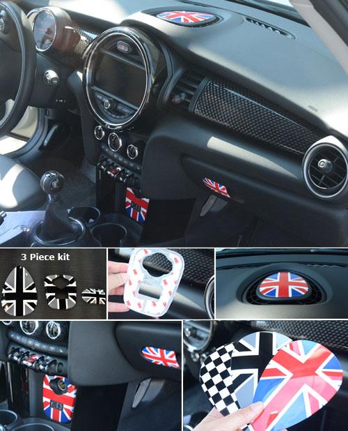 3 piece interior trim kit f55 f56 mini cooper - Mini countryman interior accessories ...