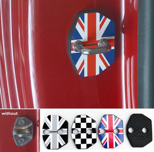 Mini Cooper Door Lock Strike Plate Latch Covers Mini