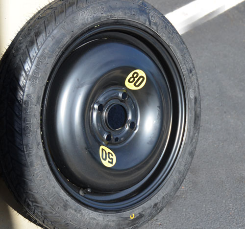 Mini Cooper Micro Space Saver Spare Tire Wheel Combo