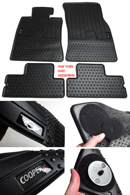 Outmotoring Rubber All Weather Floor Mats North