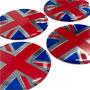 Wheel Center Cap Stickers: Union Jack Set of 4