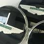Wheel Center Cap Set: Black: Aston Martin