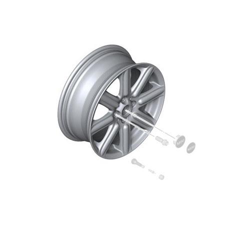 Rib Spoke R115: Light Alloy Rim: Silver